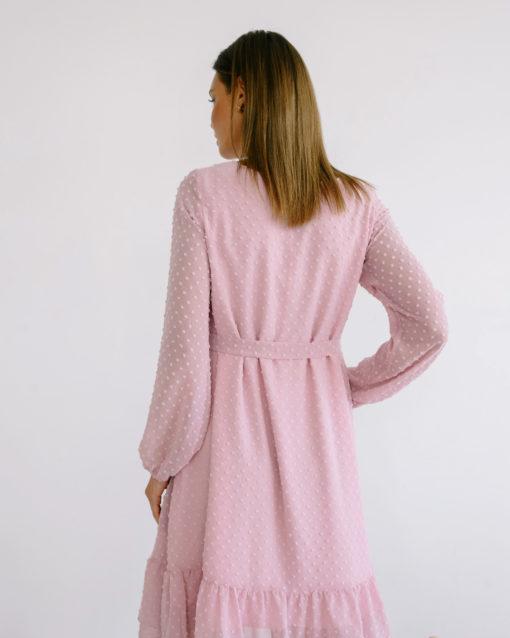 Пудровое воздушное платье для будущих и кормящих мам Bellini