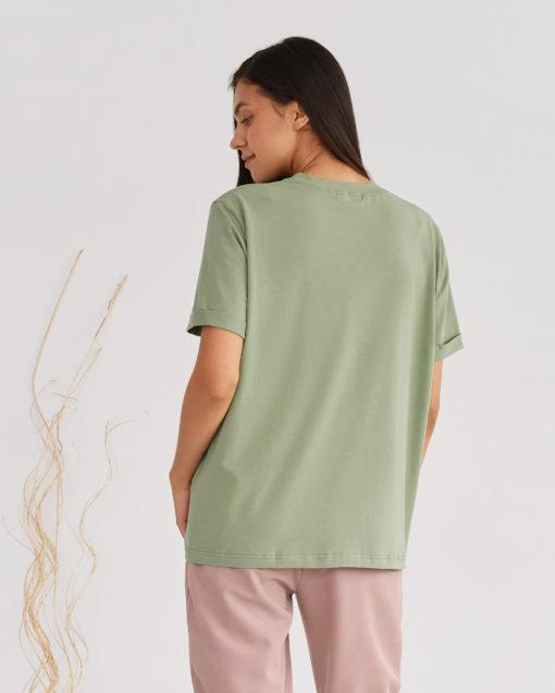 Фисташковая футболка для будущих и кормящих мам Astoria