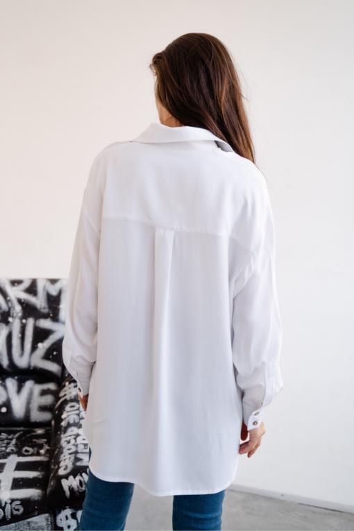 Белая рубашка для беременных и кормящих мам Boston
