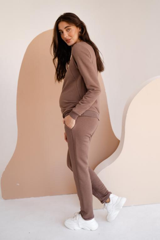 Шоколадный костюм для будущих и кормящих мам Be Cool