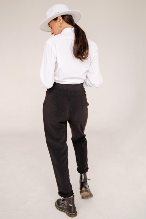 Черные укороченные брюки для будущих и кормящих мам Bomont