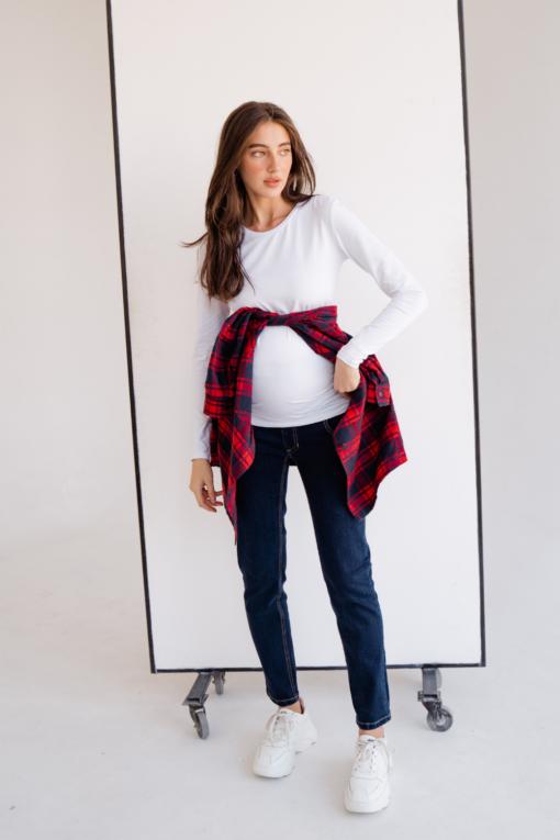 Рубашка в красную клетку для беременных и кормящих Montana
