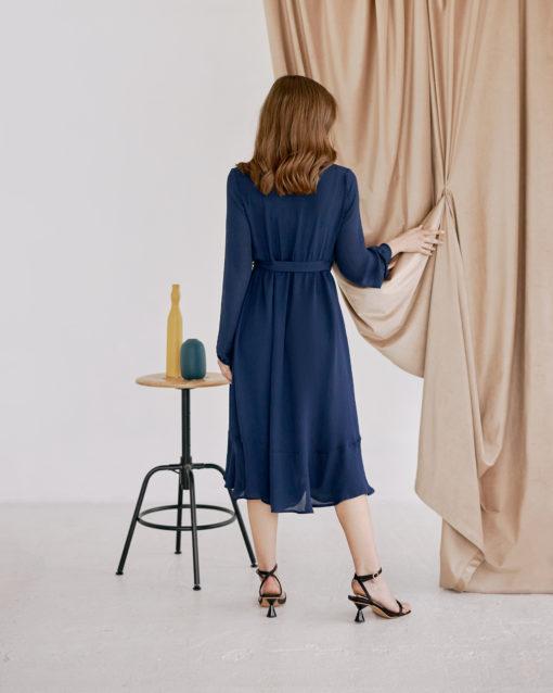 Темно-синее платье для будущих и кормящих мам Wave