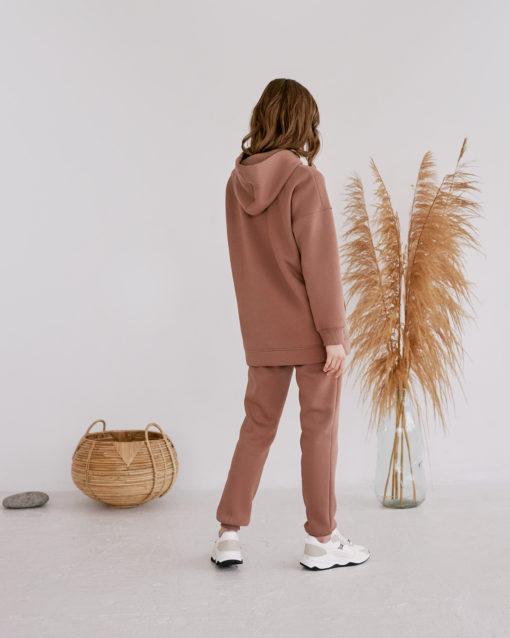 Теплые брюки в цвете какао для будущих и кормящих мам Sport