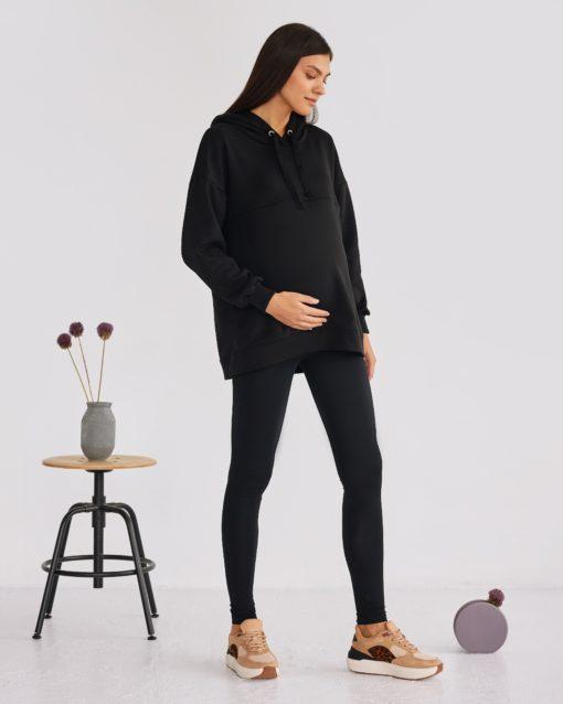 Черные леггинсы для будущих мам Letanika