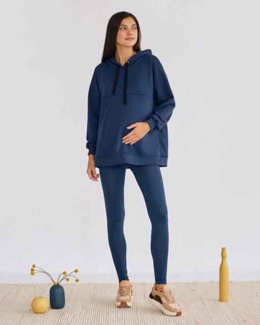 Синие леггинсы для будущих мам Letanika