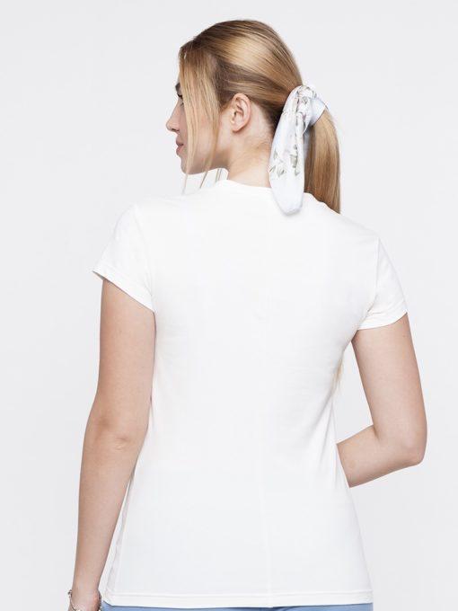 Белая футболка с принтом для будущих и кормящих мам Demina
