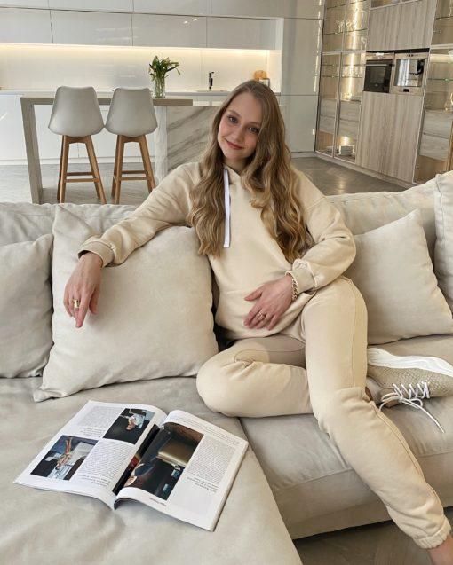 Кремовые брюки для будущих и кормящих мам Kendal