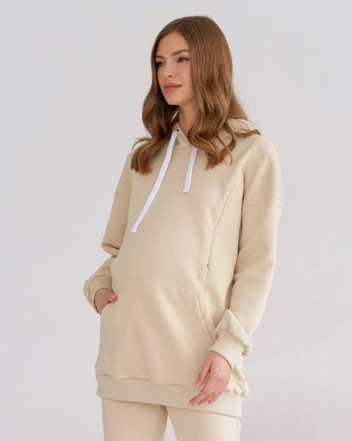 Кремовое худи для беременных и кормящих мам Kendal
