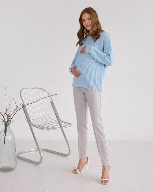 Голубой свитер для будущих и кормящих мам Atlanta