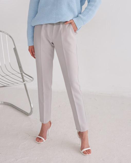 Серые базовые брюки для будущих и кормящих мам Eleganza