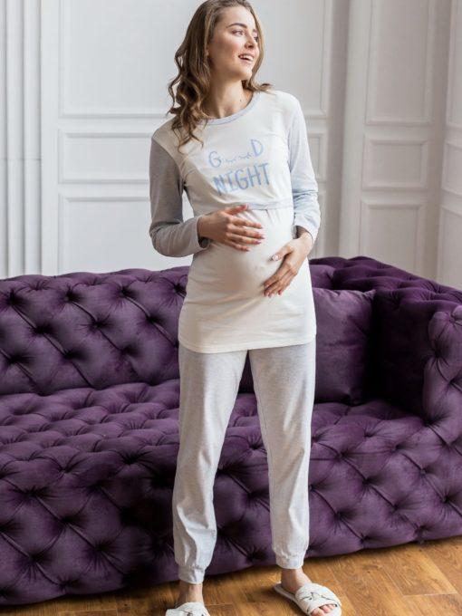 Голубая пижама для будущих и кормящих мам Milena