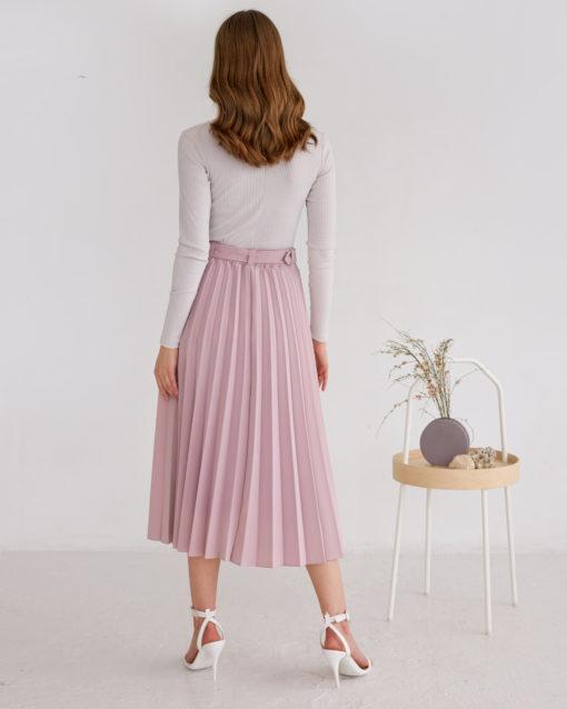Пудровая юбка-плиссе Darsia