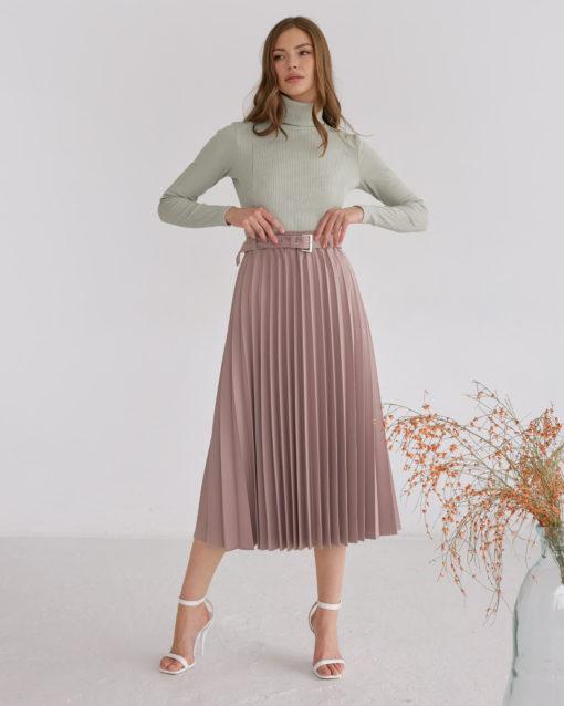 Кофейная юбка-плиссе Darsia
