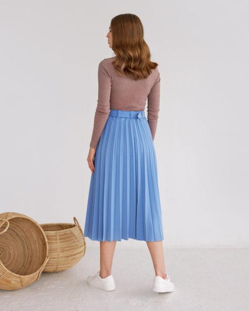 Голубая юбка-плиссе Darsia