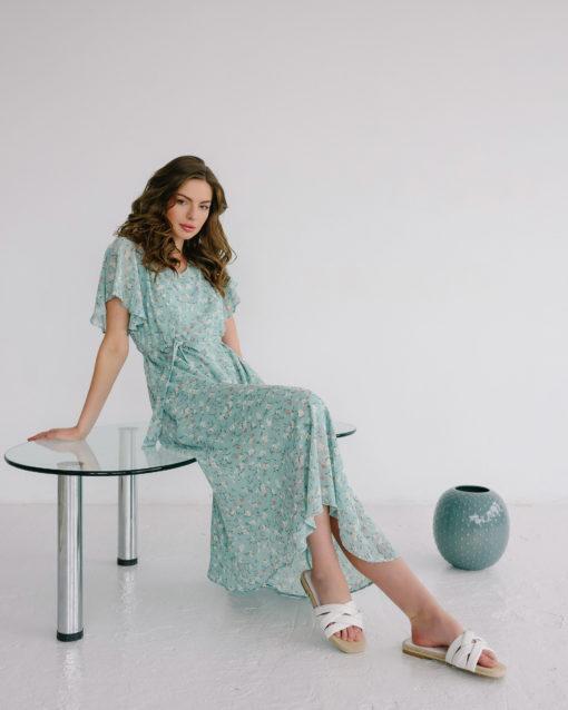 Мятное платье для будущих и кормящих мам Monaco