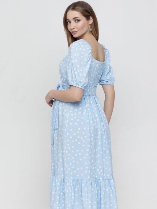 Голубое платье для беременных и кормящих мам Federica