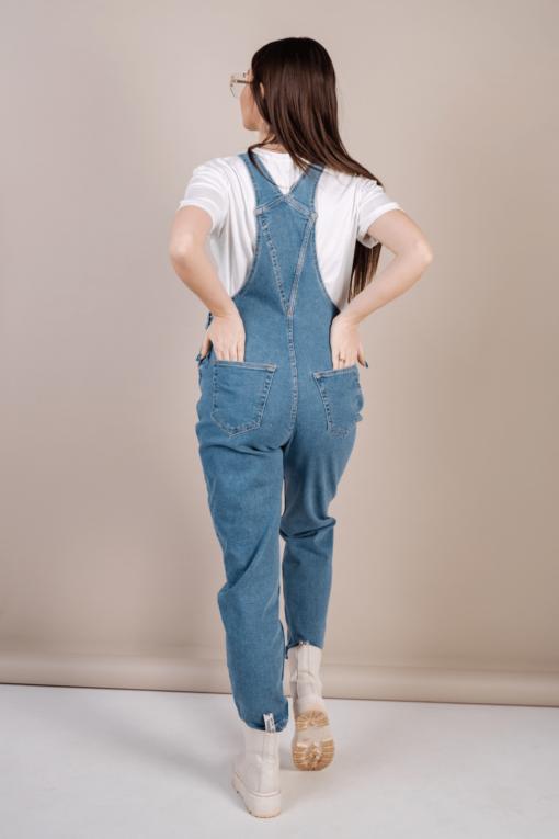 Голубой джинсовый комбинезон для будущих мам Modesto