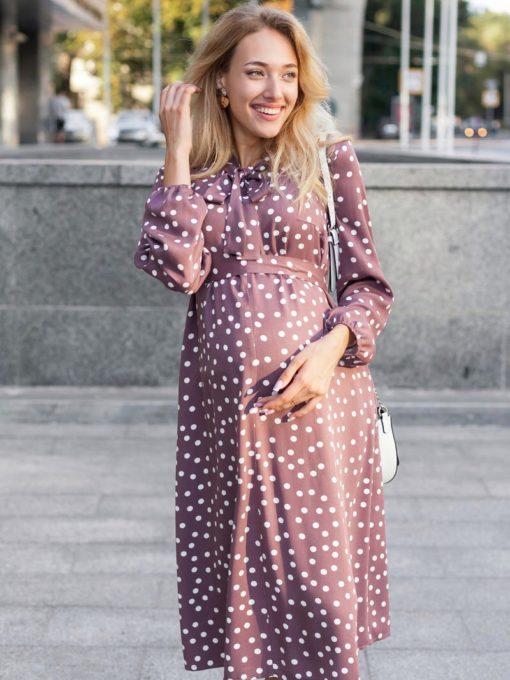 Лиловое платье для будущих и кормящих мам Katolina
