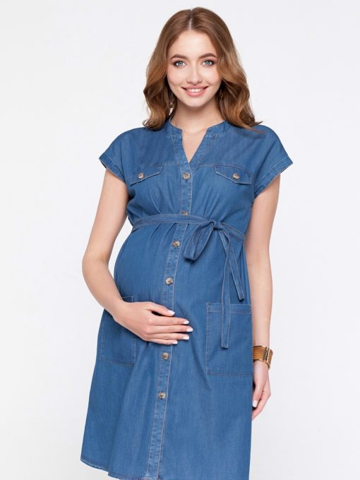 Джинсовое платье для беременных и кормящих мам Ivy