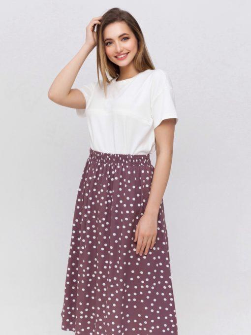 Лиловая юбка для будущих и кормящих мам Edna