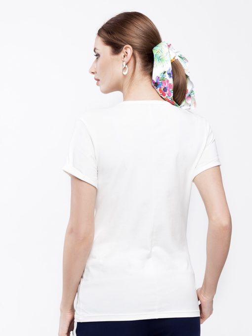 Белая футболка для будущих и кормящих мам Donna