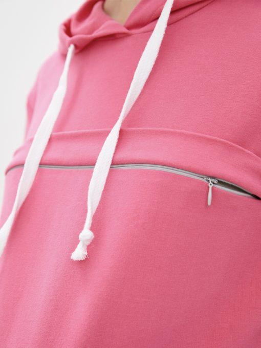 Розовое худи для будущих и кормящих мам Jill