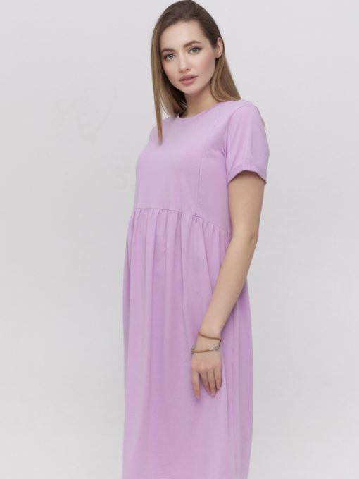 Лавандовое платье для беременных и кормящих мам Sophie
