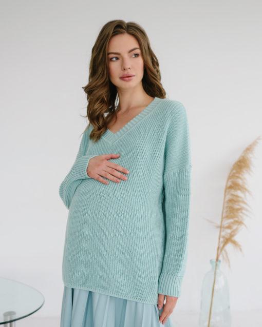 Мятный свитер для будущих и кормящих мам Erika