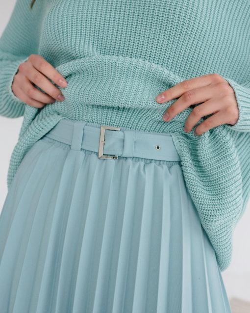 Мятная юбка-плиссе Darsia