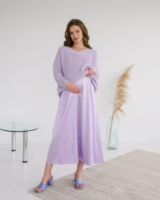 Лавандовая атласная юбка Kate