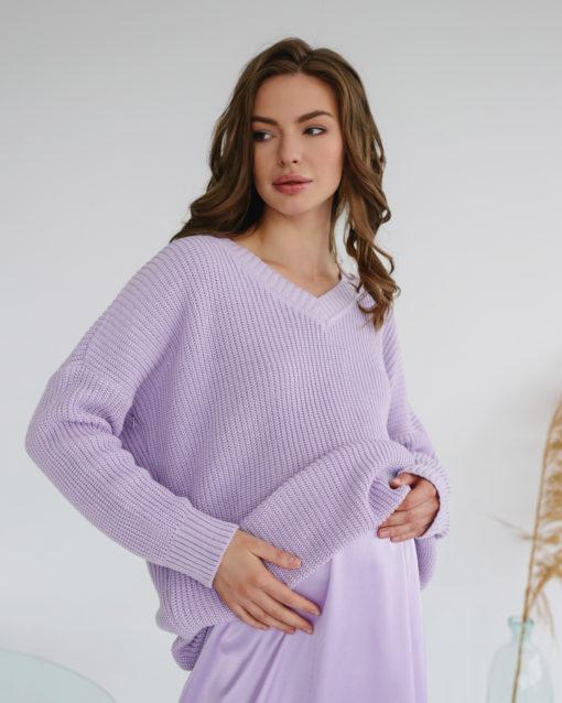 Лавандовый свитер для будущих и кормящих мам Erika