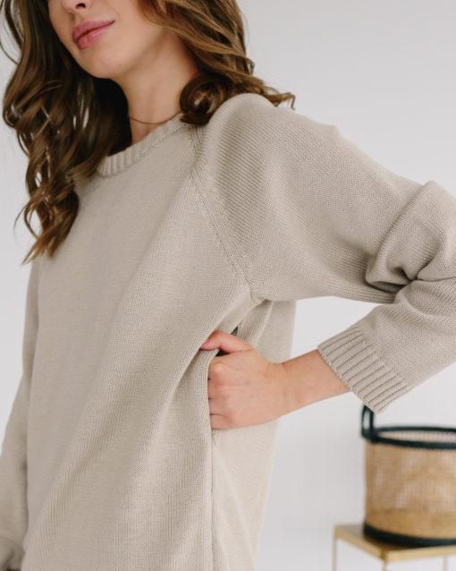 Песочный свитер для будущих и кормящих мам Polly