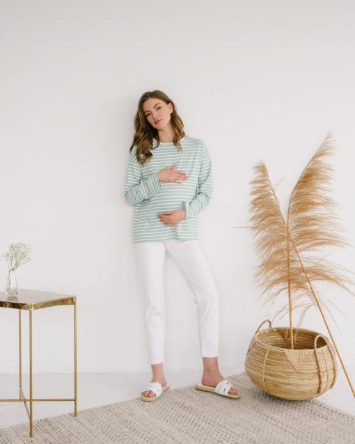Мятная тельняшка для будущих и кормящих мам Marina