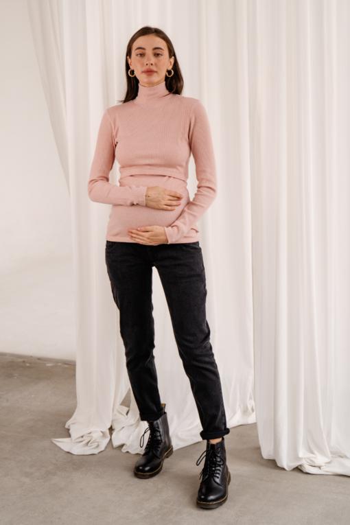 Черные джинсы прямого кроя для будущих мам Viana