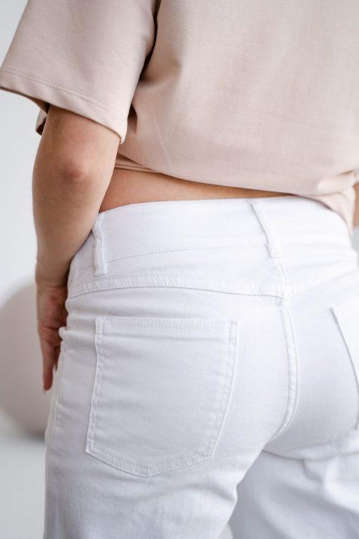 Белые джинсы прямого кроя для будущих мам Versus