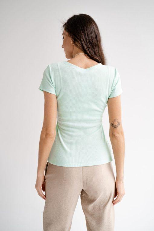 Мятная футболка для будущих и кормящих мам Moss
