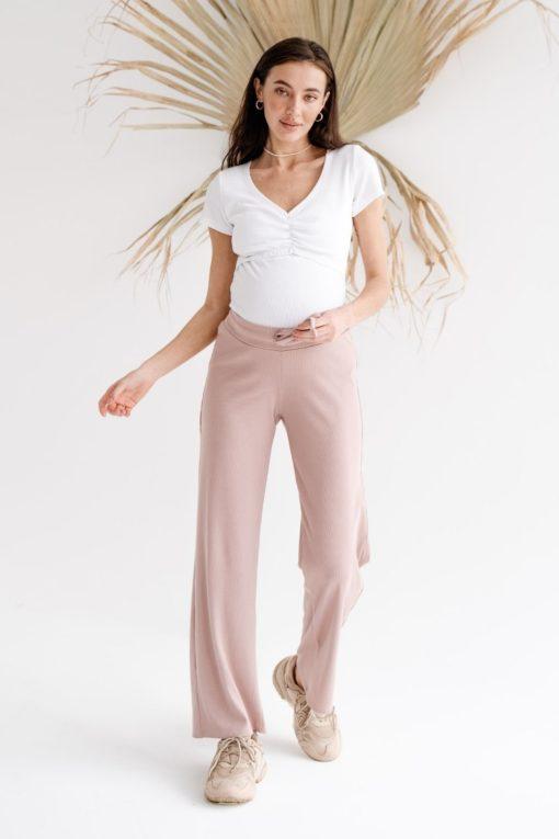 Пудровые брюки для будущих и кормящих мам Soft