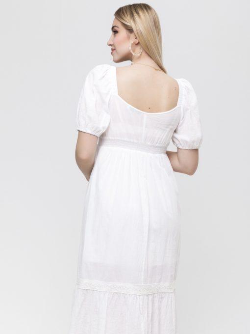 Белое платье для будущих и кормящих мам Blanche