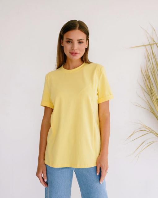 Банановая футболка для будущих и кормящих мам Astoria