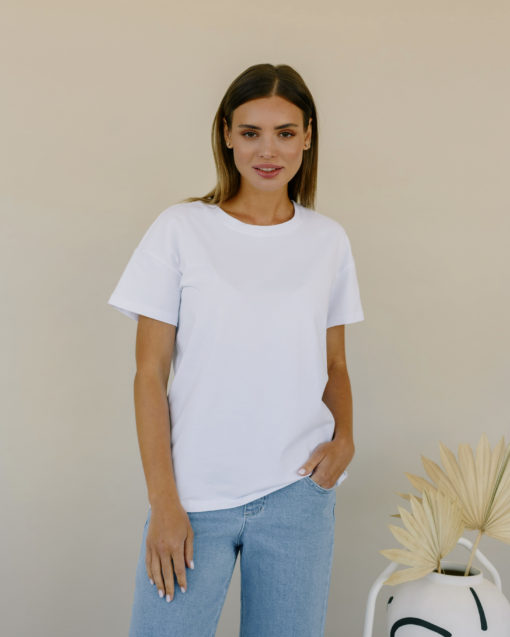 Белая футболка для беременных Bintan