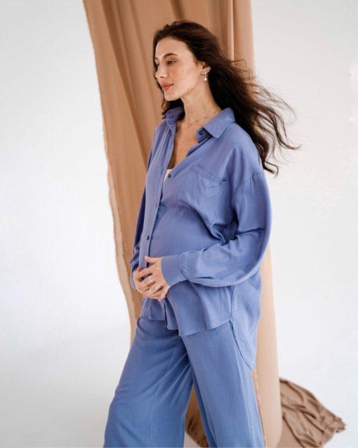 Голубой костюм для будущих и кормящих мам Breeze