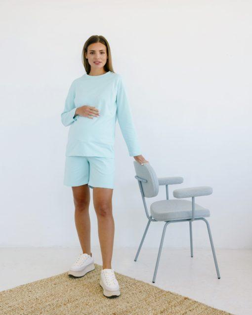 Мятный костюм для будущих и кормящих мам Pangan