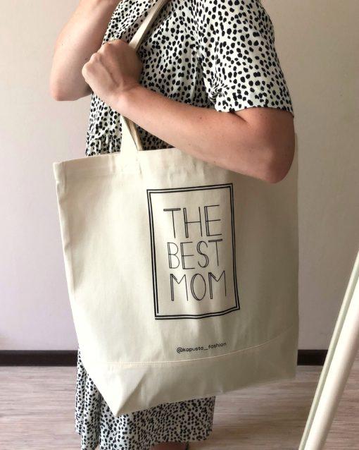 Хлопковый шопер The Best Mom