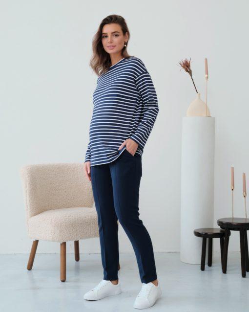 Синяя тельняшка для будущих и кормящих мам Marina