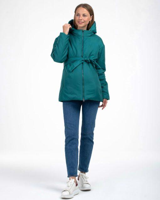 Изумрудная куртка-трансформер для будущих и кормящих мам Joysi