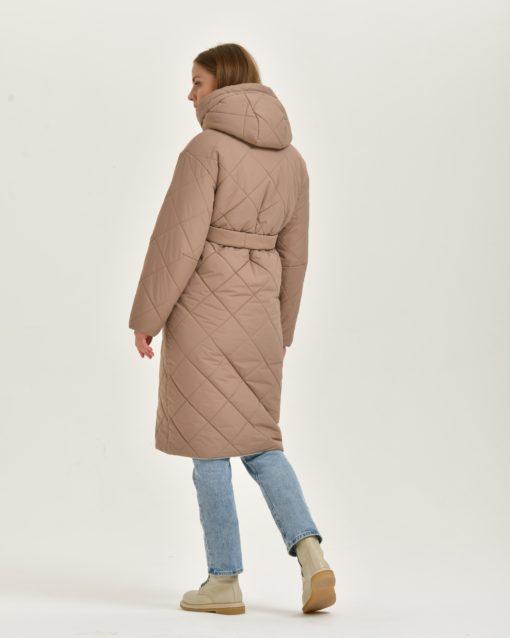 Бежевое пальто-трансформер для будущих и кормящих мам Melanika