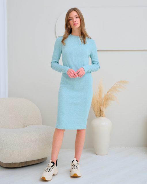 Мятное платье для будущих и кормящих мам Marika