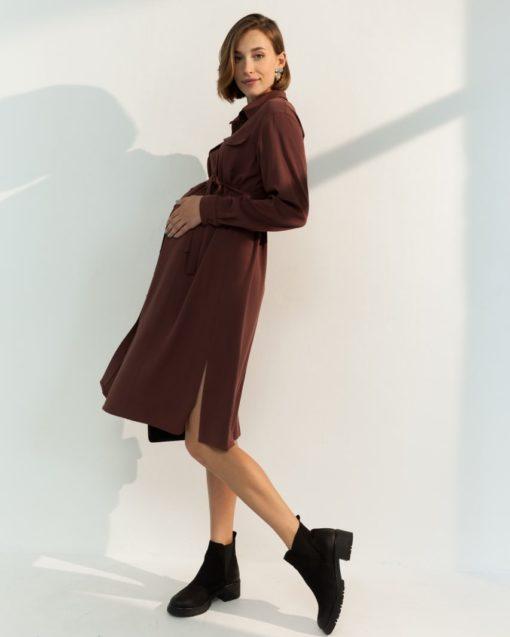 Шоколадное платье для будущих и кормящих мам Sabrina