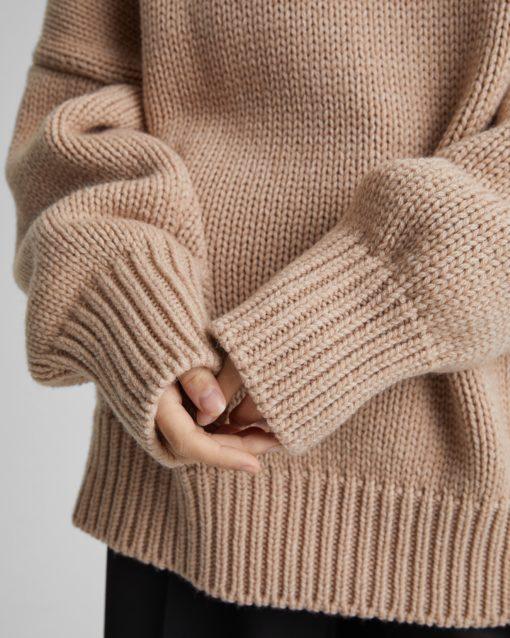 Бежевый свитер-оверсайз для будущих мам Grayson